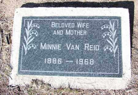 REID, MINNIE VAN - Yavapai County, Arizona   MINNIE VAN REID - Arizona Gravestone Photos