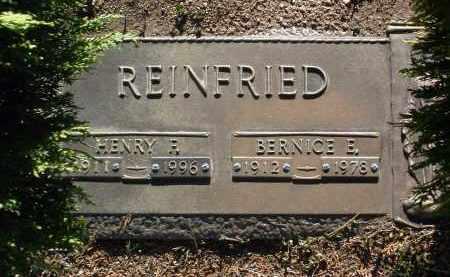 REINFRIED, HENRY FRANCIS - Yavapai County, Arizona | HENRY FRANCIS REINFRIED - Arizona Gravestone Photos