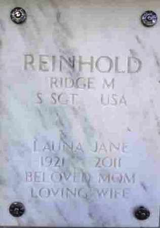 REINHOLD, LAUNA JANE - Yavapai County, Arizona | LAUNA JANE REINHOLD - Arizona Gravestone Photos