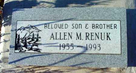 RENUK, ALLEN M. - Yavapai County, Arizona | ALLEN M. RENUK - Arizona Gravestone Photos