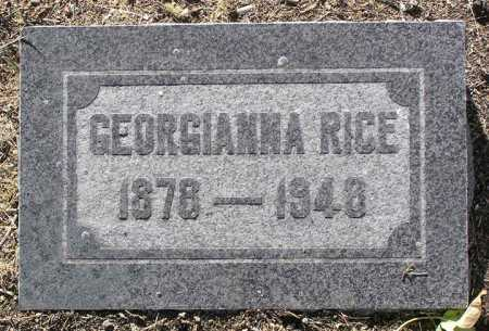 RICE, GEORGIANNA - Yavapai County, Arizona | GEORGIANNA RICE - Arizona Gravestone Photos