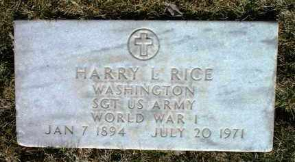 RICE, HARRY LINDUSKY - Yavapai County, Arizona   HARRY LINDUSKY RICE - Arizona Gravestone Photos
