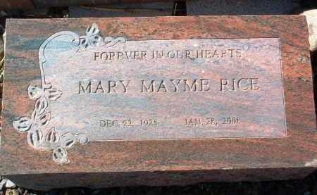 RICE, MARY MAYME - Yavapai County, Arizona   MARY MAYME RICE - Arizona Gravestone Photos
