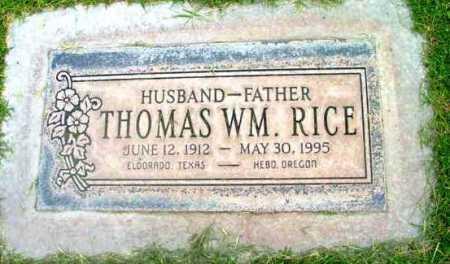 RICE, THOMAS WILLIAM - Yavapai County, Arizona | THOMAS WILLIAM RICE - Arizona Gravestone Photos