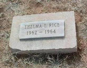 RICE, THELMA L. - Yavapai County, Arizona | THELMA L. RICE - Arizona Gravestone Photos