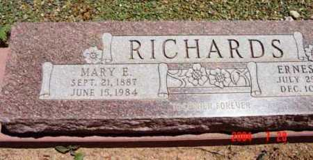 WINE RICHARDS, MARY ELLEN - Yavapai County, Arizona | MARY ELLEN WINE RICHARDS - Arizona Gravestone Photos