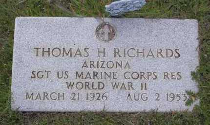 RICHARDS, THOMAS HALCOMB - Yavapai County, Arizona | THOMAS HALCOMB RICHARDS - Arizona Gravestone Photos