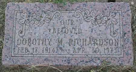 RICHARDSON, DOROTHY M. - Yavapai County, Arizona | DOROTHY M. RICHARDSON - Arizona Gravestone Photos