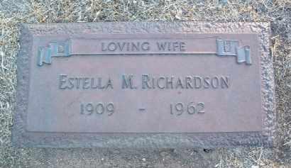 RICHARDSON, ESTELLA M. - Yavapai County, Arizona | ESTELLA M. RICHARDSON - Arizona Gravestone Photos