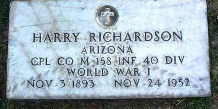 RICHARDSON, HARRY - Yavapai County, Arizona   HARRY RICHARDSON - Arizona Gravestone Photos