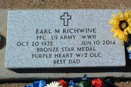 RICHWINE, EARL MELVIN - Yavapai County, Arizona | EARL MELVIN RICHWINE - Arizona Gravestone Photos