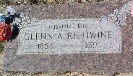 RICHWINE, GLENN  ARTHUR - Yavapai County, Arizona   GLENN  ARTHUR RICHWINE - Arizona Gravestone Photos