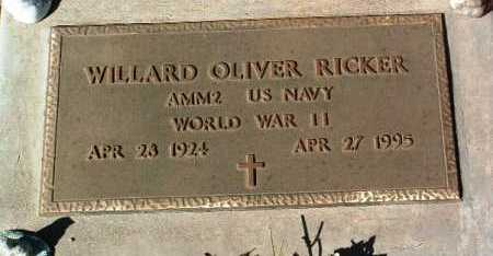 RICKER, WILLARD OLIVER - Yavapai County, Arizona | WILLARD OLIVER RICKER - Arizona Gravestone Photos
