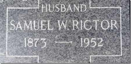 RICTOR, SAMUEL WESLEY - Yavapai County, Arizona | SAMUEL WESLEY RICTOR - Arizona Gravestone Photos
