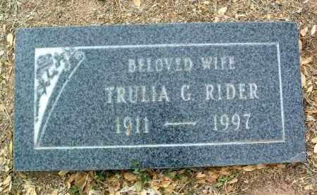 RIDER, TRULIA G. - Yavapai County, Arizona   TRULIA G. RIDER - Arizona Gravestone Photos