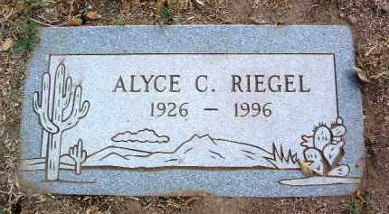 RIEGEL, ALYCE CATHERINE - Yavapai County, Arizona | ALYCE CATHERINE RIEGEL - Arizona Gravestone Photos