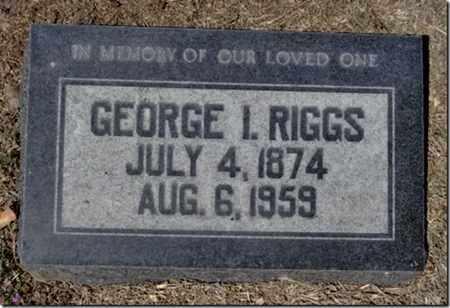 RIGGS, GEORGE IBSON - Yavapai County, Arizona | GEORGE IBSON RIGGS - Arizona Gravestone Photos