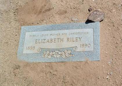 RILEY, ELIZABETH - Yavapai County, Arizona   ELIZABETH RILEY - Arizona Gravestone Photos