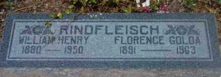 RINDFLEISCH, WILLIAM HENRY - Yavapai County, Arizona   WILLIAM HENRY RINDFLEISCH - Arizona Gravestone Photos