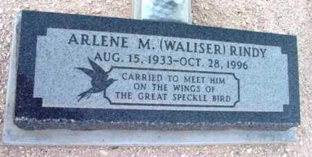 WALISER RINDY, ARLENE M. - Yavapai County, Arizona | ARLENE M. WALISER RINDY - Arizona Gravestone Photos