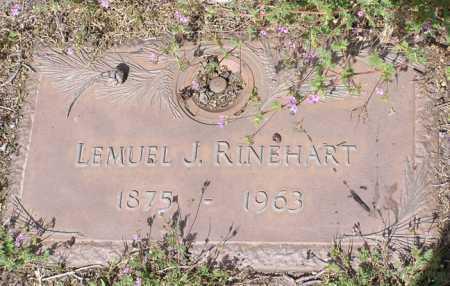 RINEHART, LEMUEL JAMES - Yavapai County, Arizona | LEMUEL JAMES RINEHART - Arizona Gravestone Photos
