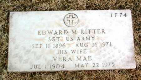 RITTER, VERA MAE - Yavapai County, Arizona   VERA MAE RITTER - Arizona Gravestone Photos