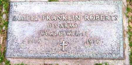 ROBERTS, SAMUEL FRANKLIN - Yavapai County, Arizona | SAMUEL FRANKLIN ROBERTS - Arizona Gravestone Photos