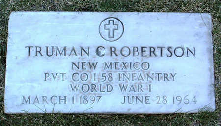 ROBERTSON, TRUMAN C. - Yavapai County, Arizona   TRUMAN C. ROBERTSON - Arizona Gravestone Photos