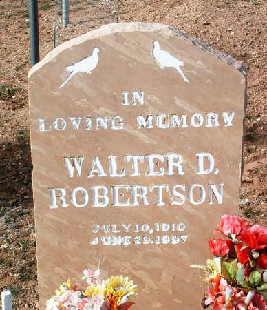 ROBERTSON, WALTER D. - Yavapai County, Arizona | WALTER D. ROBERTSON - Arizona Gravestone Photos
