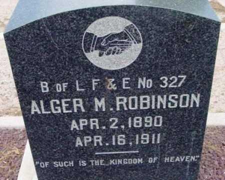 ROBINSON, ALGER M. - Yavapai County, Arizona | ALGER M. ROBINSON - Arizona Gravestone Photos