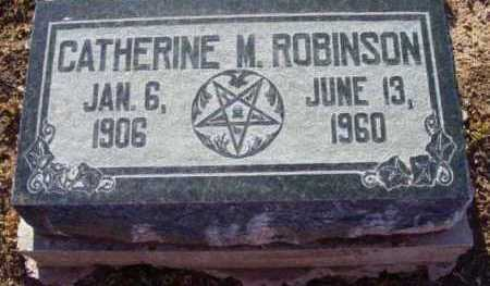 ROBINSON, CATHERINE M. - Yavapai County, Arizona | CATHERINE M. ROBINSON - Arizona Gravestone Photos