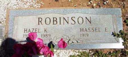 ROBINSON, HAZEL K. - Yavapai County, Arizona   HAZEL K. ROBINSON - Arizona Gravestone Photos