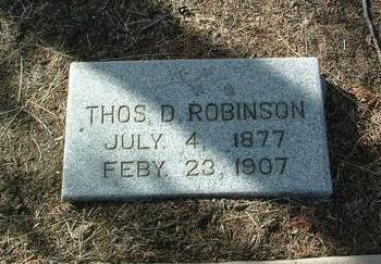 ROBINSON, THOMAS D. - Yavapai County, Arizona | THOMAS D. ROBINSON - Arizona Gravestone Photos