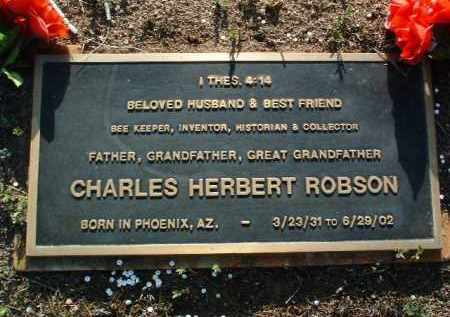 ROBSON, CHARLES HERBERT - Yavapai County, Arizona | CHARLES HERBERT ROBSON - Arizona Gravestone Photos