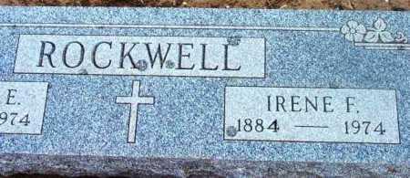 ROCKWELL, IRENE F. - Yavapai County, Arizona | IRENE F. ROCKWELL - Arizona Gravestone Photos