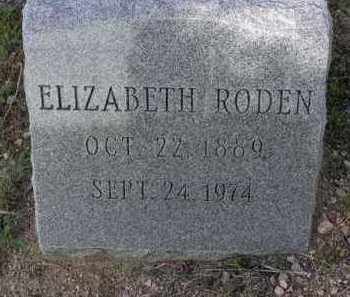 RODEN, ELIZABETH - Yavapai County, Arizona | ELIZABETH RODEN - Arizona Gravestone Photos