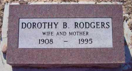 RODGERS, DOROTHY B. - Yavapai County, Arizona | DOROTHY B. RODGERS - Arizona Gravestone Photos