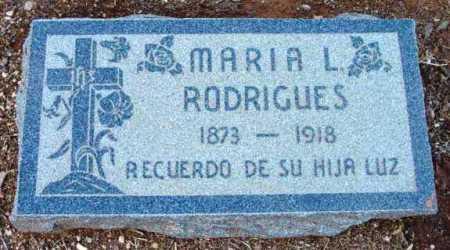 RODRIGUES, MARIA L. - Yavapai County, Arizona   MARIA L. RODRIGUES - Arizona Gravestone Photos