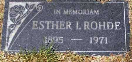 ROHDE, ESTHER I . - Yavapai County, Arizona | ESTHER I . ROHDE - Arizona Gravestone Photos