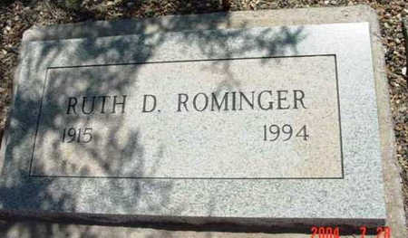 ROMINGER, RUTH D. - Yavapai County, Arizona | RUTH D. ROMINGER - Arizona Gravestone Photos