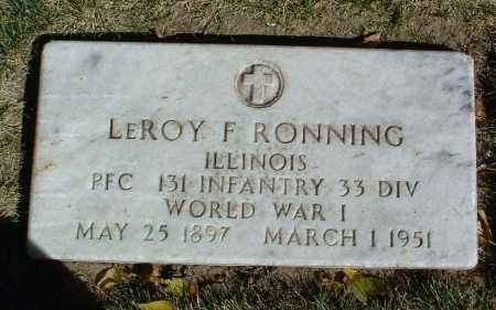 RONNING, LEROY F. - Yavapai County, Arizona | LEROY F. RONNING - Arizona Gravestone Photos
