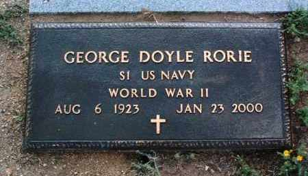 RORIE, GEORGE DOYLE - Yavapai County, Arizona | GEORGE DOYLE RORIE - Arizona Gravestone Photos