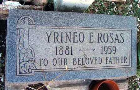 ROSAS, YRINEO E. - Yavapai County, Arizona   YRINEO E. ROSAS - Arizona Gravestone Photos