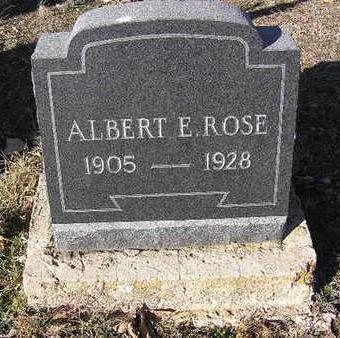 ROSE, ALBERT EDWARD - Yavapai County, Arizona | ALBERT EDWARD ROSE - Arizona Gravestone Photos