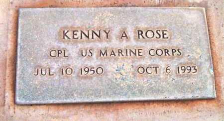 ROSE, KENNY A. - Yavapai County, Arizona   KENNY A. ROSE - Arizona Gravestone Photos