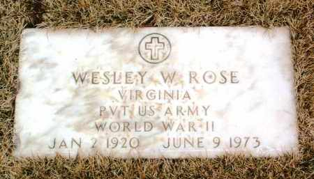 ROSE, WESLEY WOODSELL - Yavapai County, Arizona | WESLEY WOODSELL ROSE - Arizona Gravestone Photos