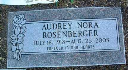 ROSENBERGER, AUDREY - Yavapai County, Arizona   AUDREY ROSENBERGER - Arizona Gravestone Photos