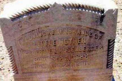 ROSENBERGER, BERTIE LEE - Yavapai County, Arizona   BERTIE LEE ROSENBERGER - Arizona Gravestone Photos