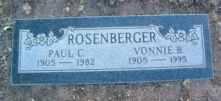 ROSENBERGER, VONNIE B. - Yavapai County, Arizona | VONNIE B. ROSENBERGER - Arizona Gravestone Photos