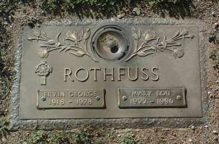 ROTHFUSS, ERVIN GEORGE - Yavapai County, Arizona | ERVIN GEORGE ROTHFUSS - Arizona Gravestone Photos